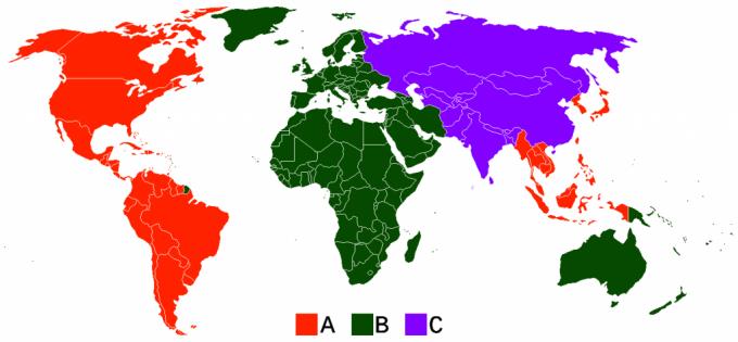 Blu-Ray Region Map, courtesy of Ursinus College.