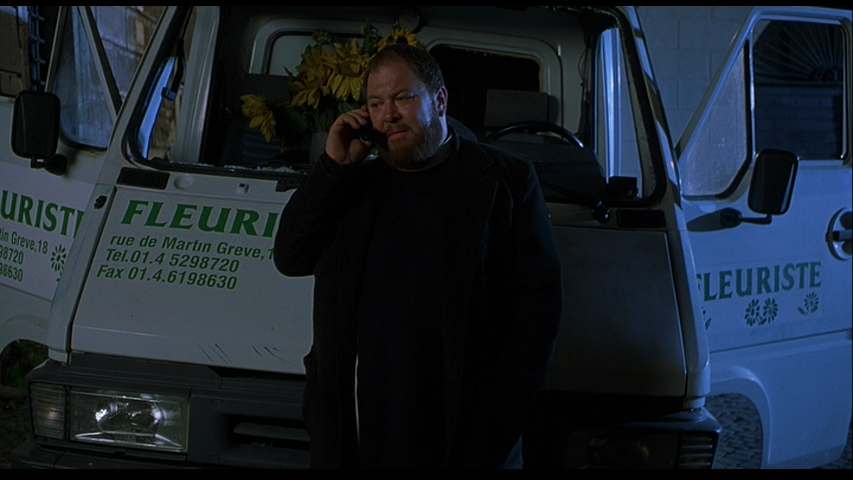 He helped cause this accident while chasing down a possessed man, providing most of this movie's excitement.